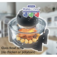 Halogen oven glass bowl